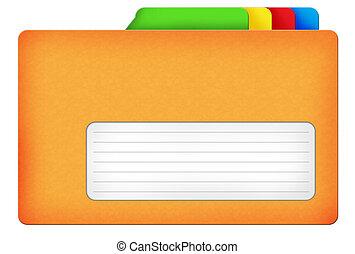 Yellow file folder