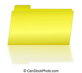 Yellow File Folder with Shadow