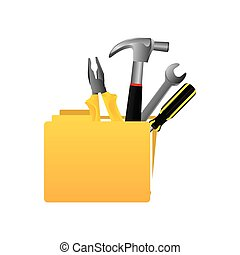 yellow file with tools icon