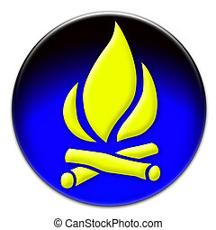 Yellow fire button