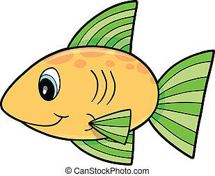 Yellow fish Vector Illustration