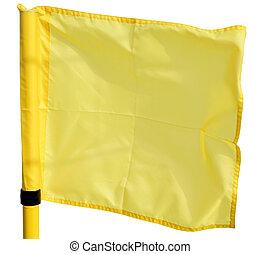 yellow flag on white