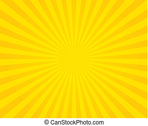 Yellow flare background. Vector illustration.