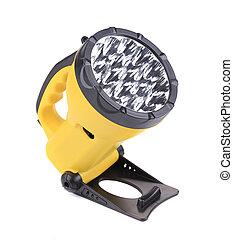 Yellow flashlight.