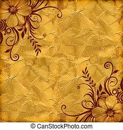 yellow floral grunge illustration