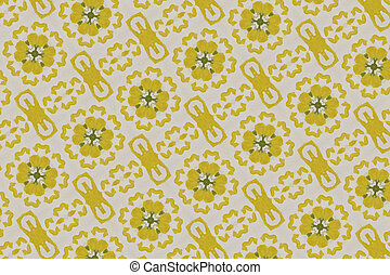 yellow floral pattern background