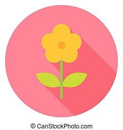 Yellow Flower Circle Icon