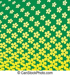 Yellow Flower Halftone Pattern