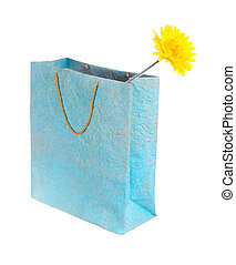 yellow flower in a bag