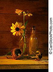 Yellow flower still life