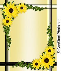 Yellow flowers border - Image and illustration composition...