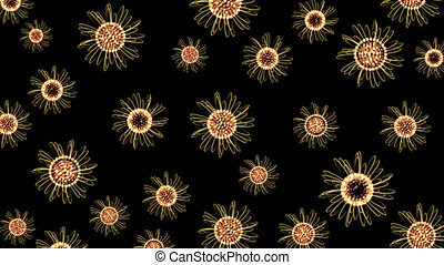 Yellow Flowers Floating On Transparent Background