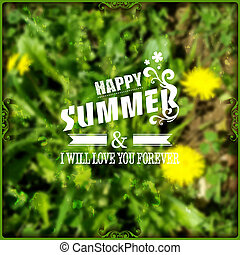 Yellow flowers, happy summer background. Summer Time.
