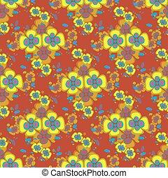 yellow flowers on a beautiful background seamless pattern