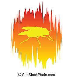 yellow fly illustration