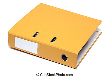 Yellow folder - Document folder isolated on white background