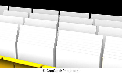 Folders And Documents - Yellow Folders And Documents On...