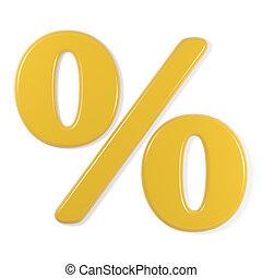 yellow font - percentage symbol - Yellow percentage symbol,...