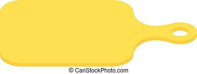 Yellow food board vector illustration.