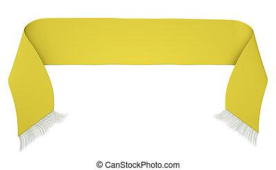 Yellow football scarf - Blank yellow football scarf isolated...