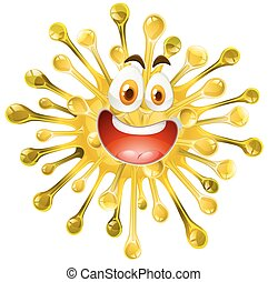 Yellow form with happy face illustration