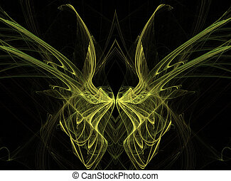 Yellow Fractal Butterfly Wings