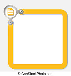 yellow frame for any text with document icon