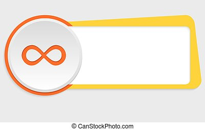 yellow frame for text and infinity symbol
