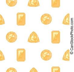 Yellow gemstones set