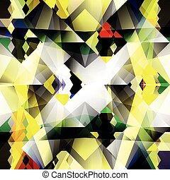 yellow geometric abstract pattern small objects