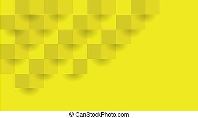 Yellow Geometric Background. The Vector Can Be Used in Cover Design, Book Design, Website Background, Advertising.