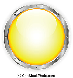Yellow glass button