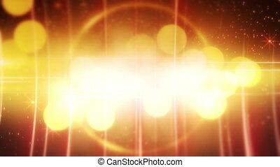 yellow glowing circles loop back