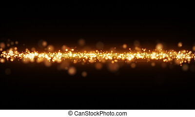 yellow glowing light stripe abstract background