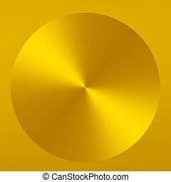 Yellow Gold Abstract Button - Futuristic Design