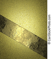 Yellow (gold) background with cutout. Design template