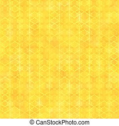 Yellow gold seamless pattern with hexagon shapes