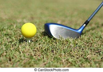 Yellow Golf ball