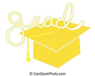 Yellow Grad Cap