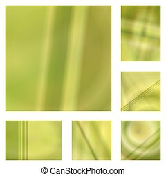 Yellow gradient abstract background design set