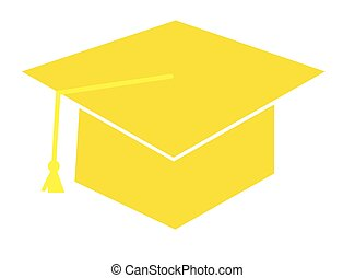 Yellow Graduation Cap