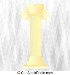 Yellow Greek Column
