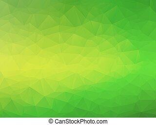 yellow green bio background - abstract triangular yellow...