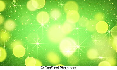 yellow green bokeh light loopable background
