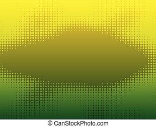 yellow green dot halftone gradient background