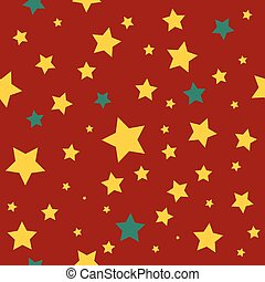Yellow Green Stars Red Christmas Background.