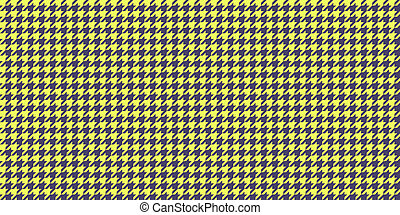 Yellow Grey Seamless Houndstooth Pattern Background. Traditional Arab Texture. Fabric Textile Material.