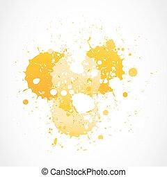 yellow grunge splashes