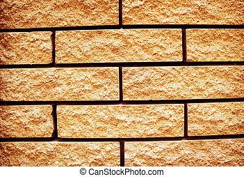 Yellow grunge texture of brickwall