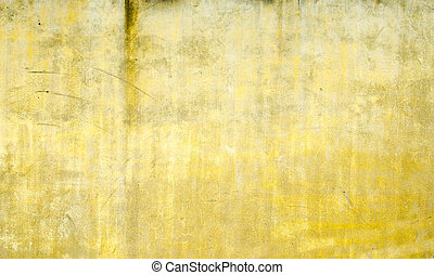 yellow grunge wall texture background